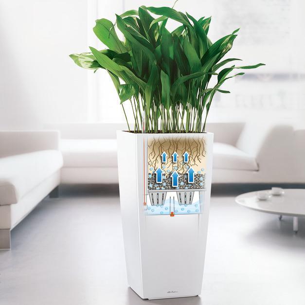lechuza cubico premium 50 pflanzgef mit erd bew sserungs system schwarz hochglanz 50 x 50 x. Black Bedroom Furniture Sets. Home Design Ideas