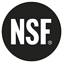 Certified to NSF/ANSI 42