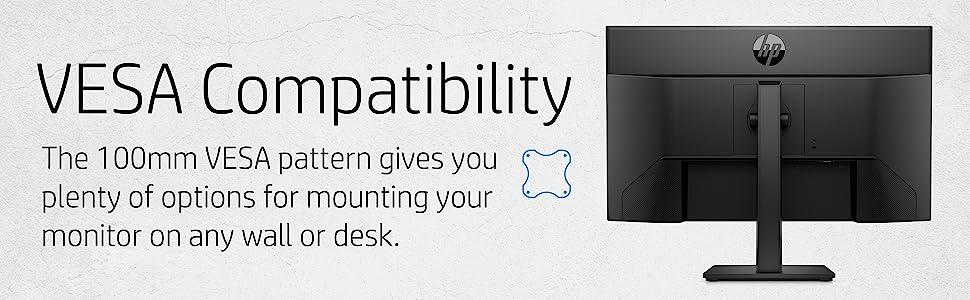 HP M27ha FHD Monitor VESA Compatibility