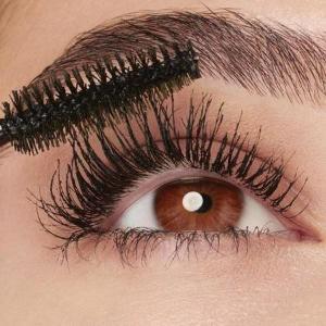 Eye make-up Maybelline mascara eyelash colour black.