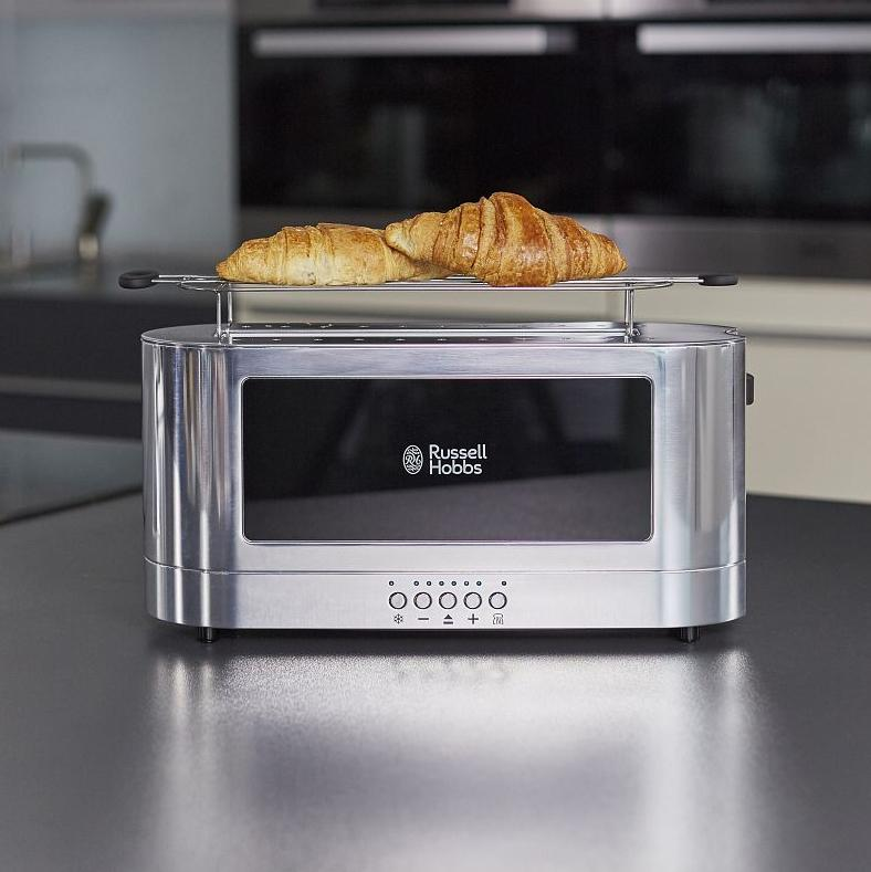 russell hobbs 23380 56 elegance langschlitz toaster edelstahl langschlitztoaster f r 2. Black Bedroom Furniture Sets. Home Design Ideas