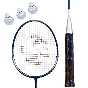 durable, racket, aluminum, molded handle, shuttlecock, birdie