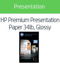 HP Premium Presentation Paper 34lb, Glossy