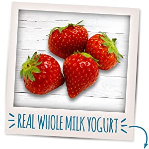 Spoonable blends made with real, whole milk yogurt plus Calcium and Vitamin D.