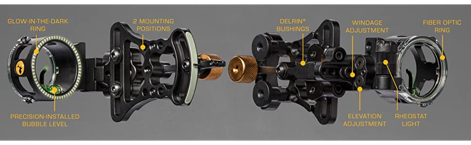 Trophy Ridge Pursuit Vertical Pin Bow Sight 3
