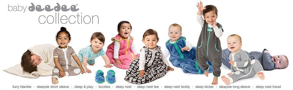 baby deedee, baby sleeping bags, baby pajamas, sleep nest, sleepsie, sleep kicker, wearable blanket