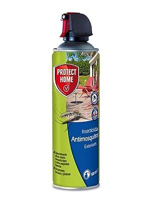 Protect Home 79684169 - Antimosquitos Exteriores para Mosquitos Tigre y Moscas, Insecticida Persistente para Balcones, Terrazas y Jardines, 500 ml: Amazon.es: Jardín
