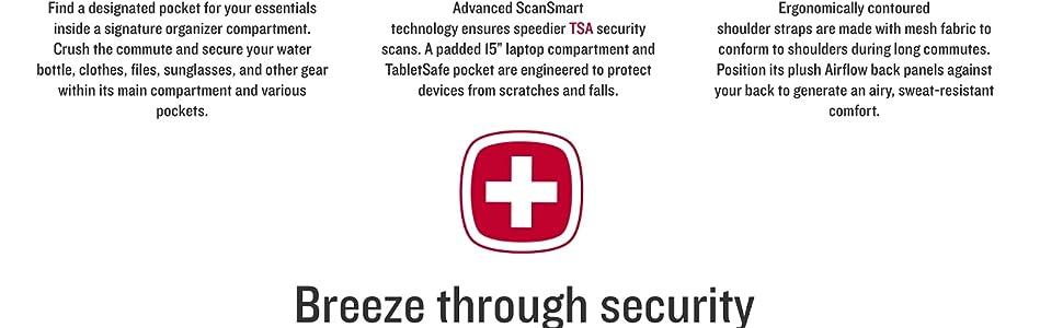 SWISSGEAR 5358 USB Charging SCANSMART ULTIMATE Organization