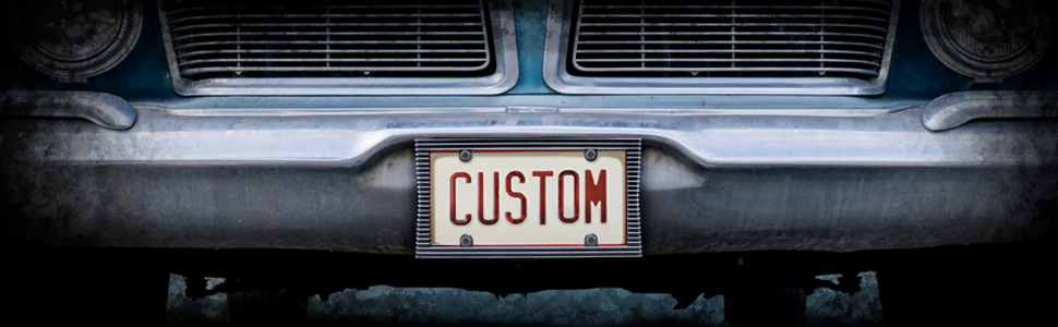 Custom Accessories 92820 Carbon Fiber License Plate Frame with Bracket