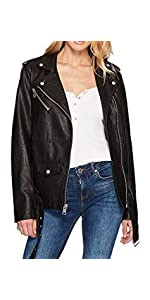 Levi's Women's Oversized Faux Leather Belted Motorcycle Jacket