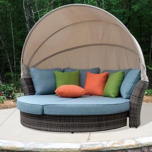 Amazon.com : Courtyard Casual 5076 Skyline Aluminum Outdoor ...