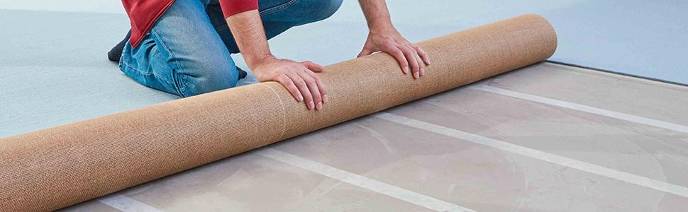25 m x 50 mm Tesa UK fort double face Ruban adhésif pour fixation de tapis