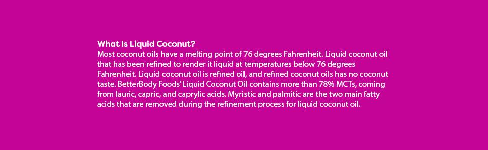liquid coconut oil 78% mcts no aroma or coconut flavor