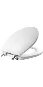 Mayfair Soft Toilet Seat With Chrome Hinges Elongated
