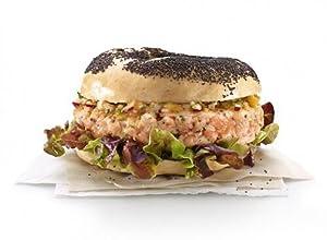 Así lo preparas. Hamburguesa de salmón con salsa ...