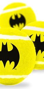 Batman Shield Logo Black Bat DC Comics Tennis Ball Fetch Toy Dog Pet Justice League Bruce Wayne