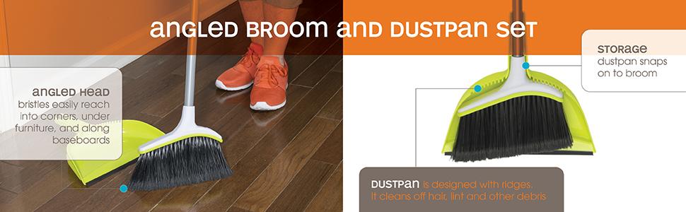 mop dustpan broom casabella cleaning floor