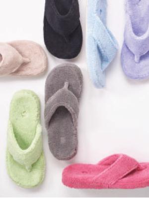women's slippers, spa thong, spa slide