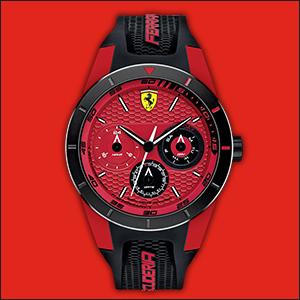 22197f856fb Amazon.com  Ferrari Men s  RedRev  Quartz Stainless Steel and Rubber ...