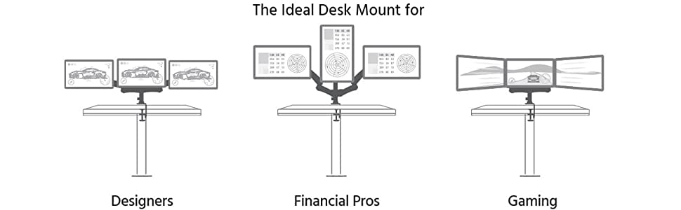 the ideal desk mount for designers finacial pros gaming