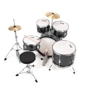 RockJam komplette 5-teiliges Junior Drum Set mit Becken