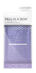 pedi in a box, pedicure kit, foot care, spa pedicure, spa in a box, diy pedicure, 3 step spa kit