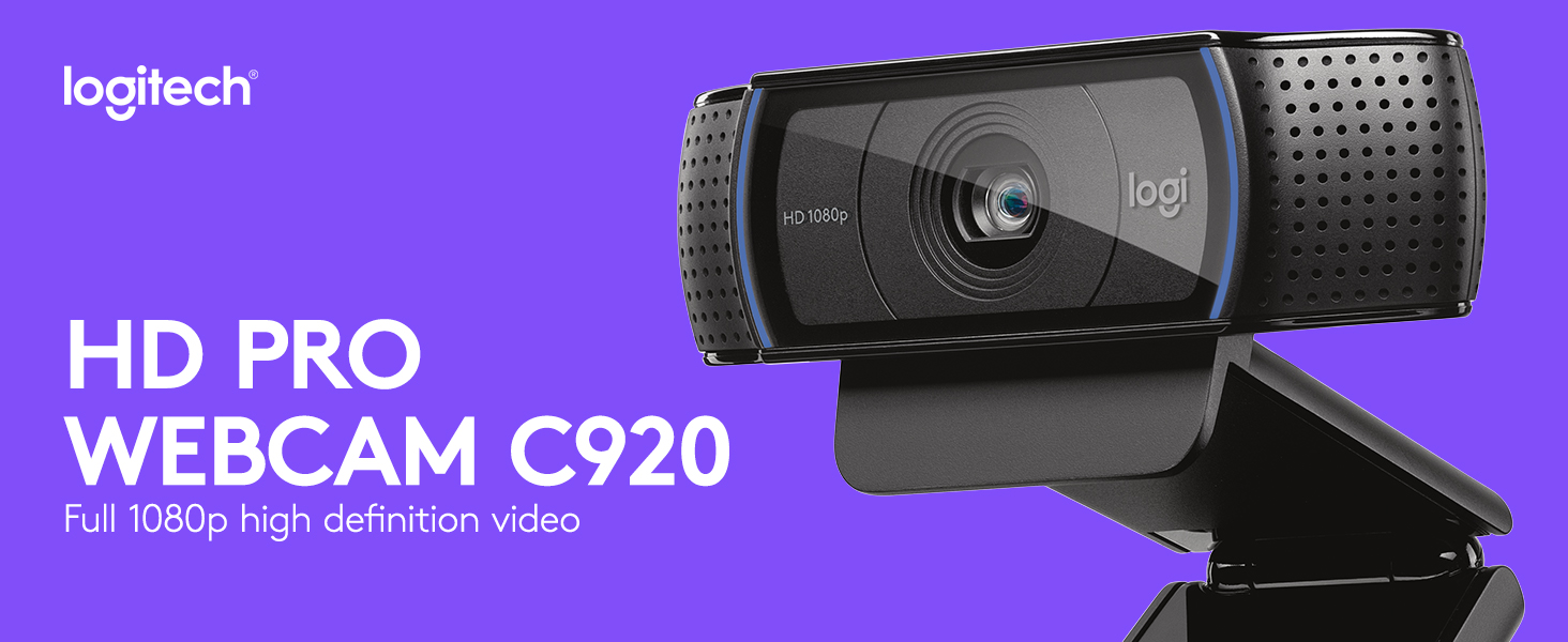 f686f05ece9 Logitech, C920 HD Pro Webcam, Full HD 1080p Video Calling and ...