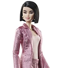 BOTTOM BARBIE DOLL STYLED BY CHRISELLE LIM SHIMMERY WIDE-LEGGED TROUSERS PANTS