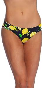 lemon love fruity print bathing suit bottom cute fresh wow factor love sexy flattering high end