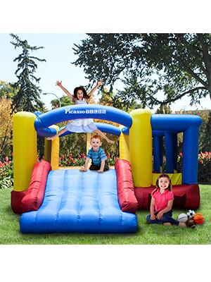 PicassoTiles KC102 Jump, Slide, Dunk Bouncing House