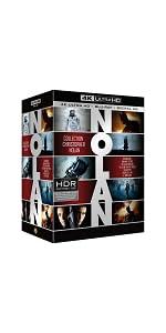 coffret;Nolan;4K;Dunkerque;Interstellar;Inception;Batman;Dark Knight;Dark Knight rises;prestige;noel