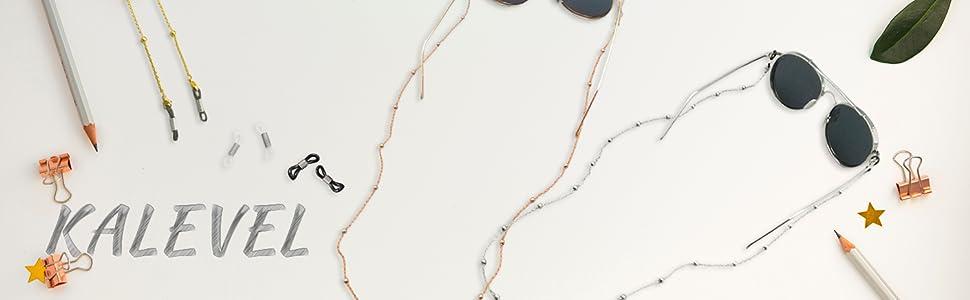 Kalevel stainless steel eyeglass chain for women girls