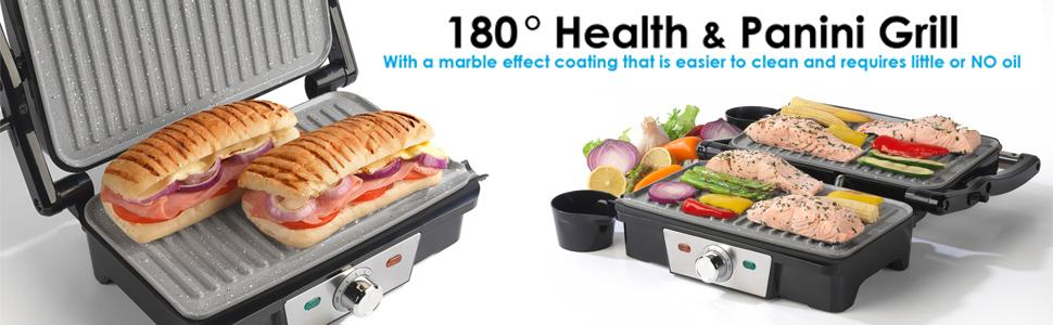 health grill, panini maker, marble health grill