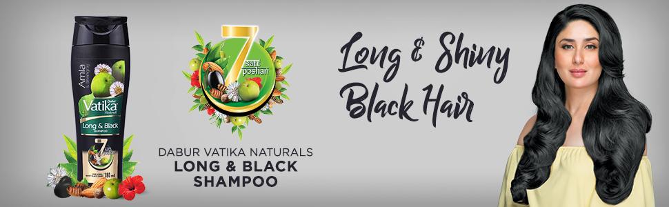 vatika shampoo;long  hair ;black and shiny hair;natural shampoo