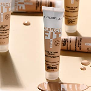 Annabelle cosmetics, makeup for the face, woman's face