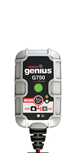 NOCO Genius G750EU 6V / 12V .75 Amp Cargador de batería ...