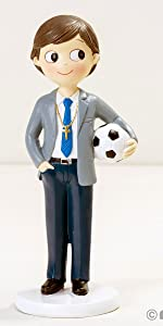 Mopec Figura de comunión niño 16,5 cm, Azul, 16.5 cm: Amazon ...