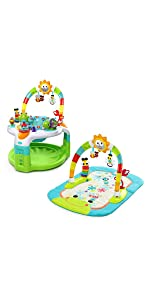751f345d3 Amazon.com   Baby Einstein 2-in-1 Lights   Sea Activity Gym   Saucer ...