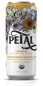 Lemongrass Dandelion Strawberry Petal Sparkling Botanical Water