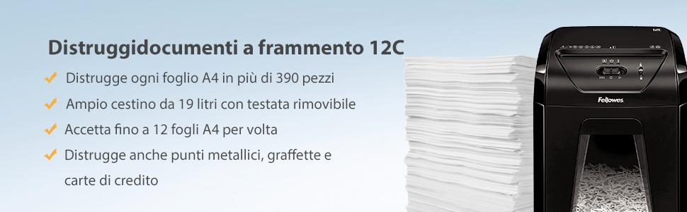 fellowes-distruggi-documenti-12c-a-frammento-12-