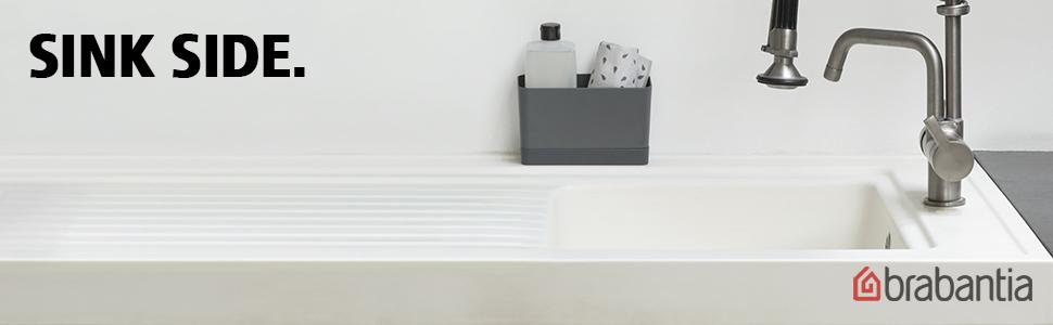 Brabantia Organizador de Fregadero, Gris Oscuro, 8,5 x 19 x 11.5 cm