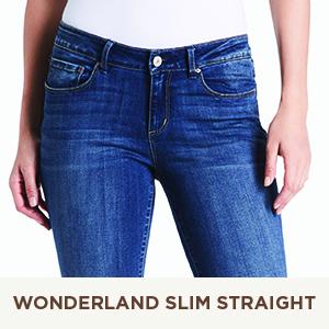wonderland slim straight leg jeans for women