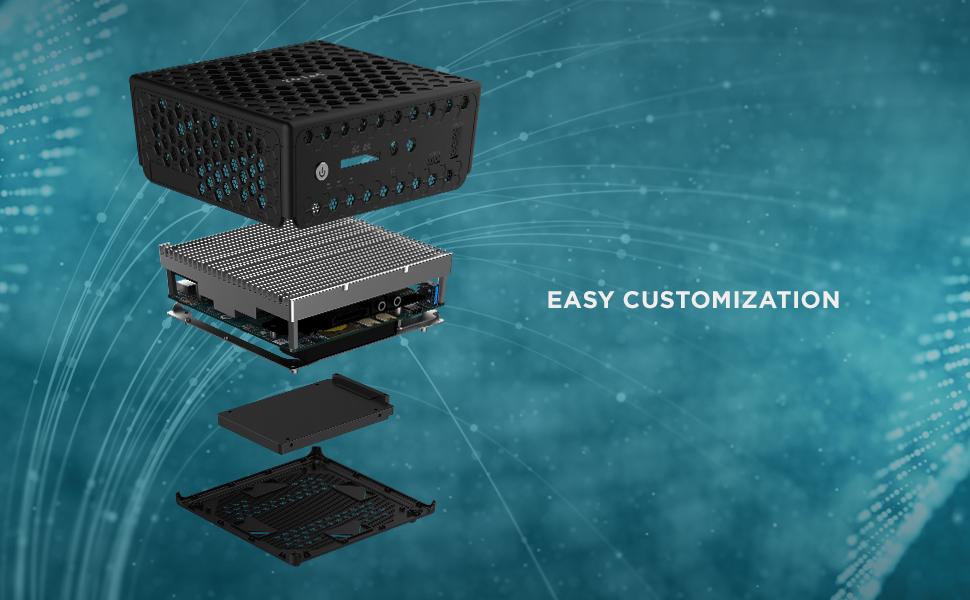 ZOTAC C Series CI329 NANO palm size fan-less passive cooling silence mini pc system work station