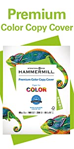 Hammermill Premium Color Copy Cover 80lb 8.5x11 paper for color printing, 250 sheets, Made in USA