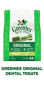 Greenies Original Dental Treats, Teenie, Tiny Dog, Toy Breed, Small Breed, Little Dog