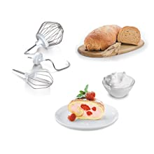 Bosch MUM4405 Macchina da Cucina, 500 W, 3.9 Litri/2 kg, ABS, Acciaio Inossidabile, 4 Velocità, Bianco