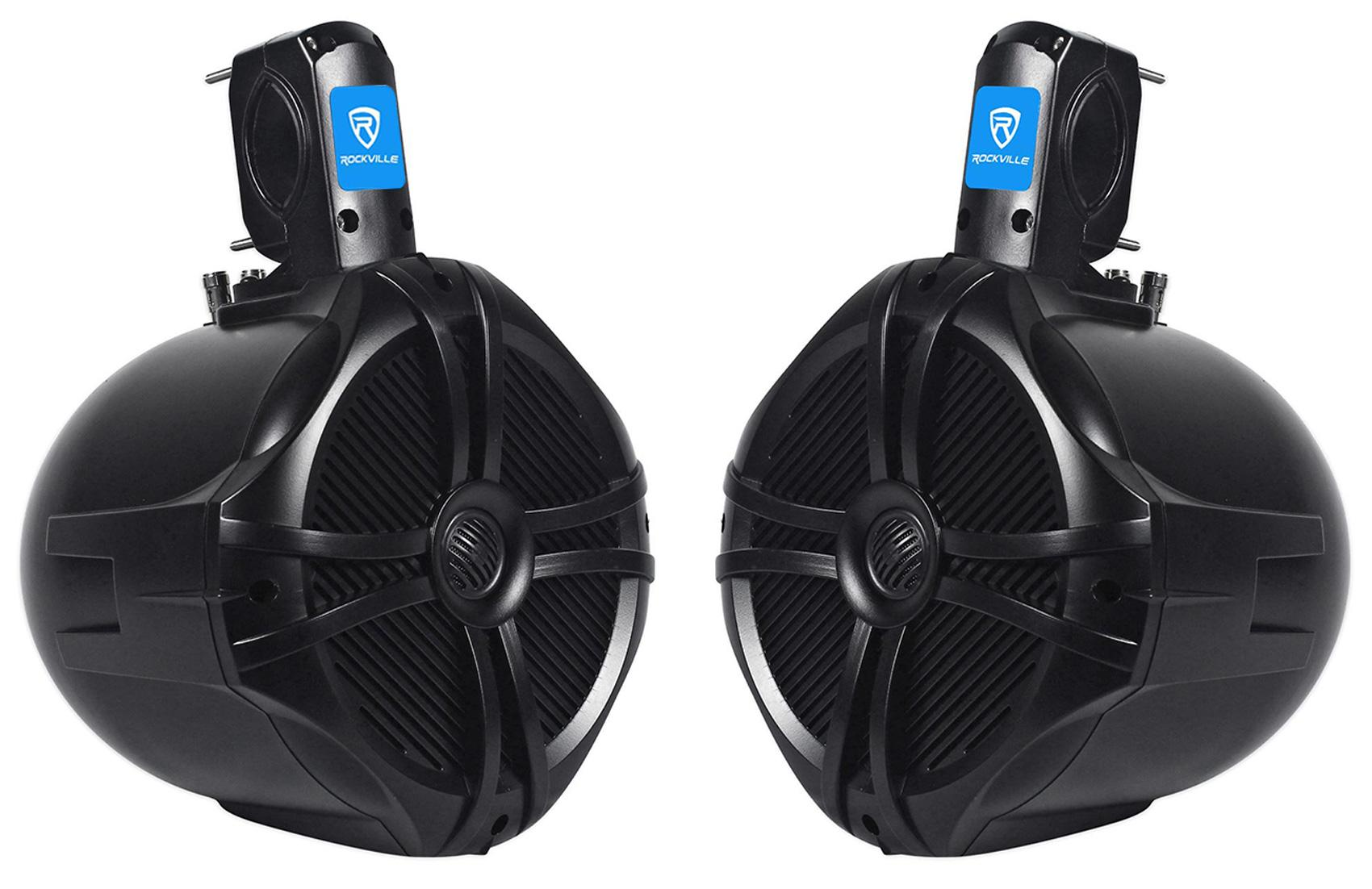 "Amazon.com: Rockville Pair 8"" Black 2 Way 600 Watt Marine"