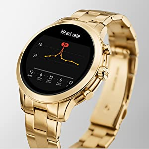 Michael Kors Women S Access Runway Stainless Steel Silicone Smart Watch Color Twotone Model Mkt5048