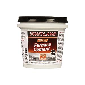 Amazon Com Rutland Products Black 32 Fl Oz Furnace Cement Home Kitchen