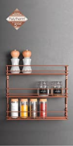 ... ordenación cocina, organizadores cocina, polytherm, cobre, copper, estante, especiero ...